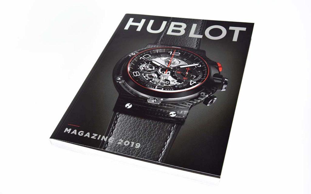 Voorkant hublot magazine bedrukt door Noova Media Productions