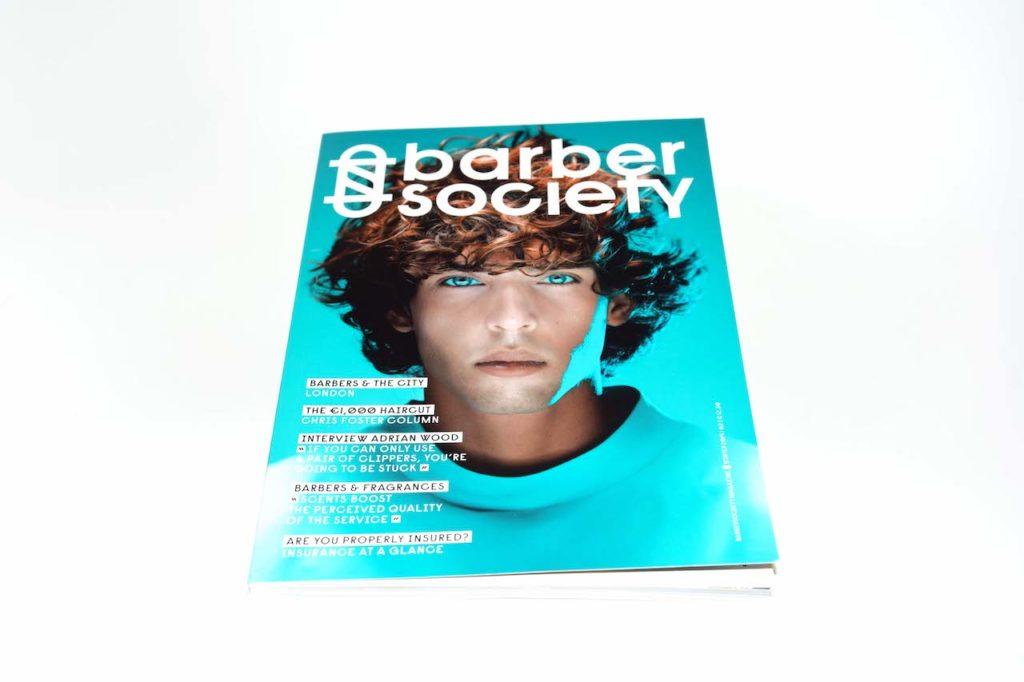 Voorkant barber society magazine bedrukt door Noova Media Productions