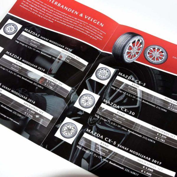 Mazda folder bedrukt Noova Media Productions